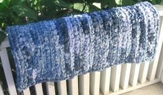 modern crochet rug | Recycled Jeans Crochet Rag Rug by MoonLightSally on Etsy