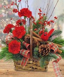 Cinnamon Basket by John Wolf Florist #Savannah #Florist #Christmas