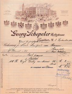 6xxxx Frankfurt/Main - Georg Schepeler. Hoflieferant. 1900 (Hist. Rechnungen) - Die Bücher-Berg - Preiswerte Bücher für Leser und Sammler