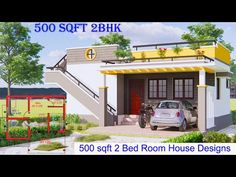 500 SQFT 2Bed Room House Designs | Exterior and Interior Walkthrough | kv designs - YouTube Small Modern House Plans, Home Interior Design, Exterior, House Design, How To Plan, Mansions, House Styles, Outdoor Decor, Youtube