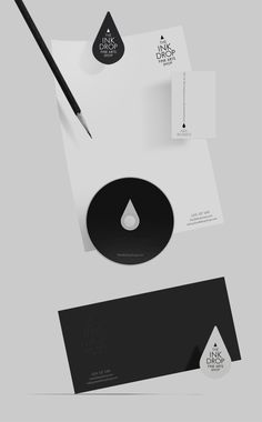 INK DROP Fine Arts Shop   Corporate Identity & Collateral Stationery designed by Timur Salikhov