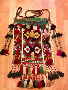 old tassel bag uzbek bag uzbek tassel vintage by akcaturkmen, $300.00