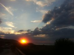 the sunset of Ribadesella