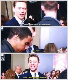 #TomHiddleston and his Loki feels... Complete gif set: http://hiddlesy.tumblr.com/post/48032838819/x