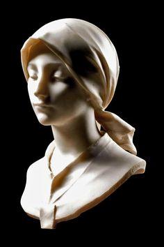 Agathon Léonard (1841-1923) - Bust of a girl