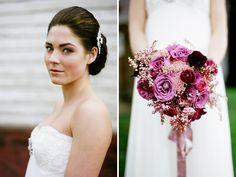 gorgeous bride and gorgeous bouquet!