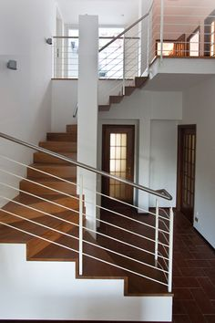 #stairs #interiors #wood Scale, Villa, Stairs, Interiors, Wood, Home Decor, Buildings, Weighing Scale, Stairway