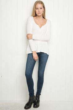 £20 - Brandy ♥ Melville   Pandora Top - LONG SLEEVES - Tops - Clothing