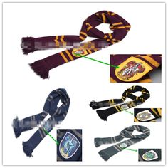 Free shipping! Hot-selling  Harry Potter scarf  Gryffindor  Ravenclaw  Hufflepuff Slytherin scarves styles Chritmas gifts 6770 $14.94