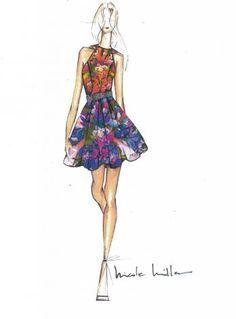 Nicole Miller Spring 2013 Sketch