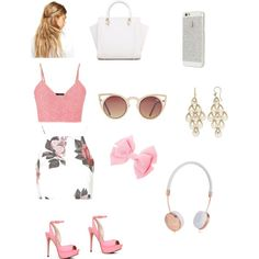 Pink chiffon by saylorfashions on Polyvore featuring polyvore, beauty, Frends, ASOS, Roberto Coin, Topshop, maurices and ALDO