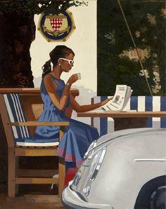 Notícias matutinas, s.d. Jack Vettriano (Escócia, 1951) óleo sobre tela www.jackvettriano.com