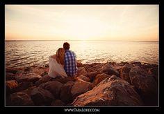 Engagement portrait with sunset  (Tara Lokey Photography)