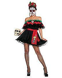 Senorita Death Adult Womens Costume