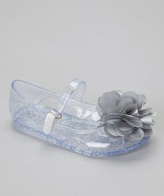 Take a look at this Silver Flower Jelly Sandal by Stepping Stones on #zulily today!