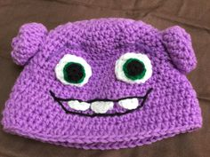 Pattern for crocheted Alien Hat inspired by Oh from the movie Home.