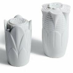 Lladro Naturofantastic Salt & Pepper Shakers (White) . $110.00. Lladro Naturofantastic Salt & Pepper Shakers (White)