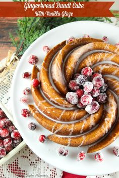 This Gingerbread Bundt Cake With Vanilla Glaze from @LivingSMoments is moist, easy to make and delicious. The perfect Holiday dessert for parties, Breakfast and even brunch. Yum