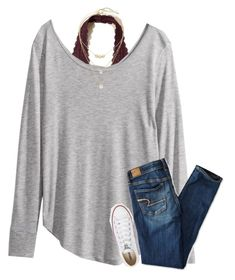 {I think polyvore hates h&m... whenever I try to search for it, it says no results} by southerngirl03 on Polyvore featuring H&M, American Eagle Outfitters, Hollister Co., Converse, Kate Spade and Cole Haan