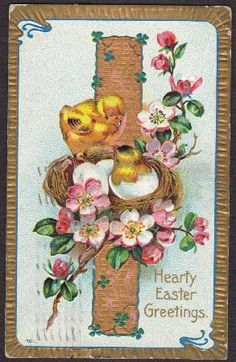 Vintage postcards are great to display in your home.  Put them on a postcard tree and change them every holiday and season.