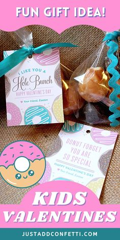 Get ready for Valentine's Day with these cute donut Valentine's Day printables. Perfect for kids valentines for school and Valentine's Day classroom parties. These donut DIY kids valentine cards are too cute to pass up! The printable valentine cards are available in two wording options in my Etsy shop. Just pair them with donuts or donut holes for a sweet Valentine treat! Also, be sure to head to justaddconfetti.com for even more cute and simple kids valentines and party ideas.