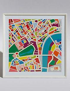 Wandbild: Karte von London,
