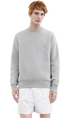 Acne Studios Corben grey melange Brushed fleece sweatshirt