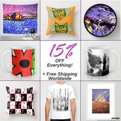 Today Only, June 6th 2016!  15% Off EVERYTHING in my Society6 shop and FREE Shipping all over the world!   Go to http://society6.com/artgaragefinland and take a look for the deals!    #society6 #handpainted #finland #nature #landscape #artist #original #artwork #paintings #abstracts #designs