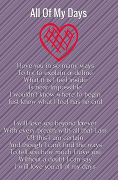 poem about unconditional love