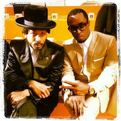 Diddy & Shyne Reunite at Paris Fashion Week