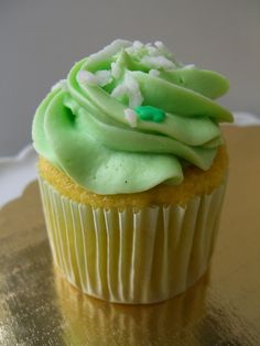 Happy St Paddy's Day from The Illuminated Oven (Coconut Sacher Torte cupcake)