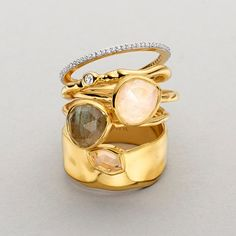 Stacking rings | Jewellery by Monica Vinader