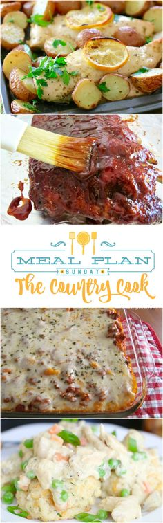 Crock Pot BBQ Ribs at Meal Plan Sunday! Other featured recipes include Crock Pot Chicken Pot Pie, Baked Ziti, One Pan Greek Chicken, BLT Pasta Salad and more!