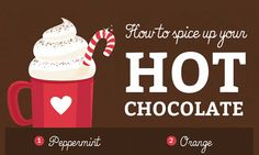 """Stay warm and toasty this winter with these 10 recipes to spice up your hot chocolate. Savory flavors like Pepperminte, Nutella, Lavendar White and more. → <a class=""""pintag"""" href=""""/explore/infographic"""" title=""""#infographic explore Pinterest"""">#infographic</a> <a class=""""pintag searchlink"""" data-query=""""%23beverage"""" data-type=""""hashtag"""" href=""""/search/?q=%23beverage&rs=hashtag"""" rel=""""nofollow"""" title=""""#beverage search Pinterest"""">#beverage</a> <a class=""""pintag searchlink"""" data-query=""""%23hotchocolate"""" data-type=""""hashtag"""" href=""""/search/?q=%23hotchocolate&rs=hashtag"""" rel=""""nofollow"""" title=""""#hotchocolate search Pinterest"""">#hotchocolate</a> <a class=""""pintag"""" href=""""/explore/recipes"""" title=""""#recipes explore Pinterest"""">#recipes</a>"""
