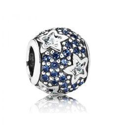 Pandora Christmas Midnight Blue Pave Stars Online (2228PCH)