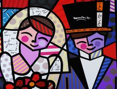 I absolutely LOVE Romero Britto. Rob and I have this piece along with another in our room. Graffiti I, Graffiti Painting, Arte Pop, Paper Architecture, Arte Country, Zombie Art, Picasso Art, Teaching Art, Lovers Art