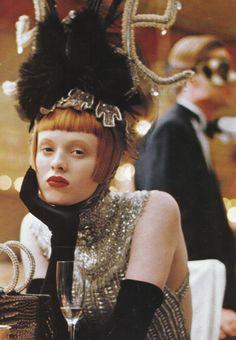 Karen Elson by Steven Meisel for Vogue US December 1997