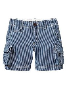 Blue striped cargo shorts | Gap
