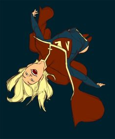 """Note: Kris Anka's grown by leaps and bounds from being a P:R regular to a in-demand artist for all the major American publishers, but here's an offhand design Anka did for fun that a certain publisher should stand up and take notice. Taking a drastic step away from the more militaristic approach from last week's Supergirl post, Anka took on the teenage fun of the character and also turned the cape into a more stylish looking addition to the wardrobe. – Chris A."""