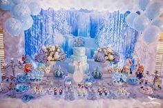Ficou maravilhosa essa ideia para você se inspirar na sua Festa Infantil Frozen. Decoração Festa Provençal Fotografia Marcus Câmara.
