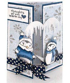 Stampendous » Frosty Yule Penguins by Jennifer Dove
