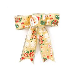 Tinksky Christmas Bowknot Painted Snowman Luxury Artificial Bowknot Christmas Tree Hanging Decoration (Gold) -- Huge discounts available now! Christmas Tree Toppers, Christmas Tree Decorations, Diy Tree Topper, Small Trees, Seasonal Decor, Party Supplies, Painted Snowman, Wraps, Bows