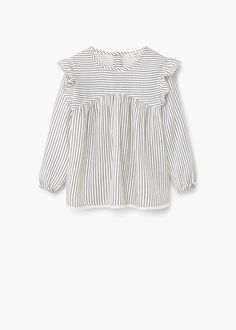 Ruffled cotton shirt | MANGO KIDS