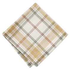 Broad lines and warm tones give our plaid napkins their table-brightening style. Woven from a luxurious linen-cotton blend, they have a soft, substantial drape and make a design-forward addition to the dining room. White Napkins, Napkins Set, Mitered Corners, Fall Table, Cooking Utensils, Williams Sonoma, Furniture Sale, Thanksgiving Decorations, Table Linens