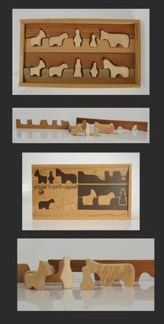 Vintage Carved Wooden Toy & Puzzle, Antonio Vitali, 1960