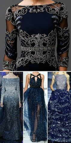 """Night Court Fashion "". These dresses remind me of starfall"