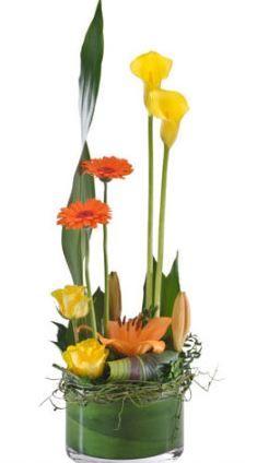 Corporate flower centerpiece