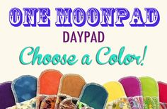 Day Pad Moonpads Organic Cloth Pads - Choose a Color via Etsy