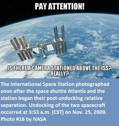 Click the Meme for more information. #Nasalies ISS was photographed from the space shuttle that had just undocked and was moving away.