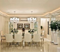 160 Awesome Formal Design Ideas For Your Dining Room Room Design, Dining Room Design, Luxury Dining Room, Dinner Room, Trendy Living Rooms, Dining Room French, House Interior, Interior Design Living Room, Classic Decor